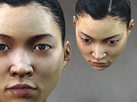 Female Asian Head